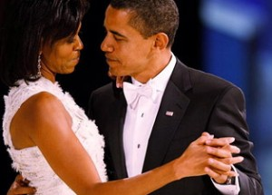 President Barak Obama and First Lady Michelle Obama