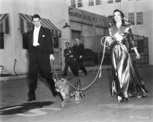 Cary Grant and Katherine Hepburn in Bringing Up Baby