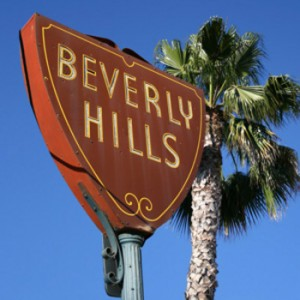 the Beverly Hills city sign