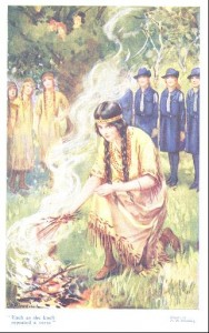 Camp Fire and Guides by P.B. Hickling in Little Folks Annual 1922.
